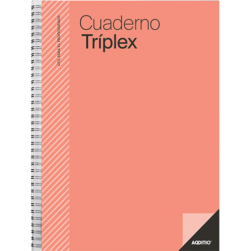 Cuaderno triplex Additio detalle 3