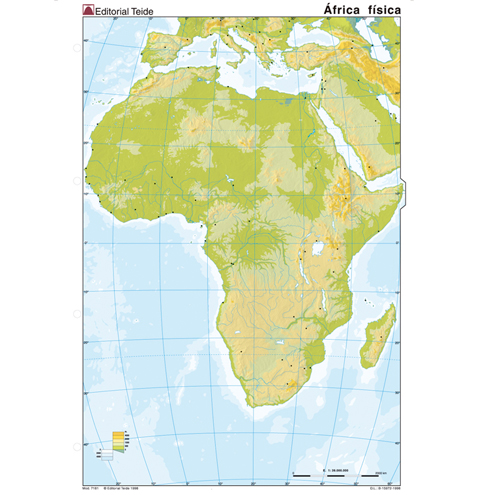 Mapa Mudo África Físico