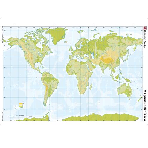 Mapa Mudo Planisferio Físico