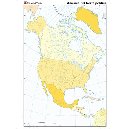 Mapa Mudo América del Norte Político