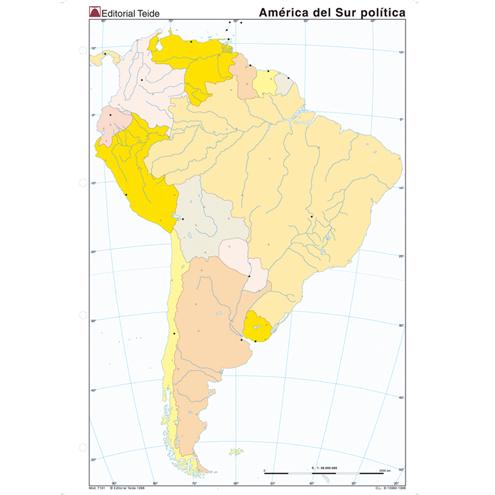 Mapa Mudo América del Sur Político