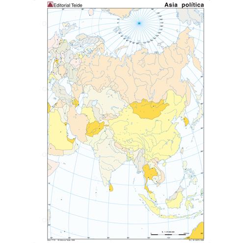 Mapa Mudo Asia Político