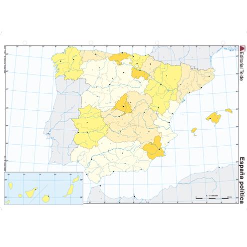 Mapa Mudo España Político