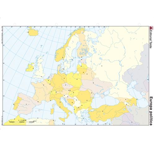 Mapa Mudo Europa Político