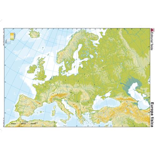 Mapa Mudo Europa Físico