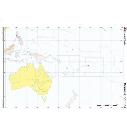 Mapa Mudo Oceanía Político