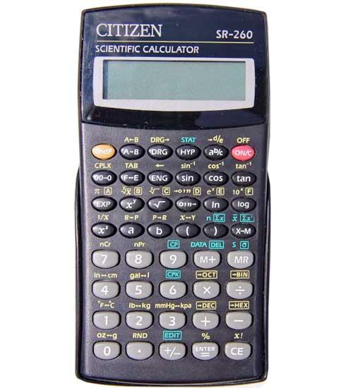 Calculadora científica Citizen SR260
