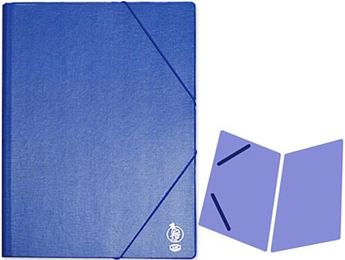 Carpeta de gomas folio sencilla cartón azul