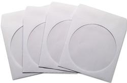Fundas CD-DVD papel blanco 50 ud