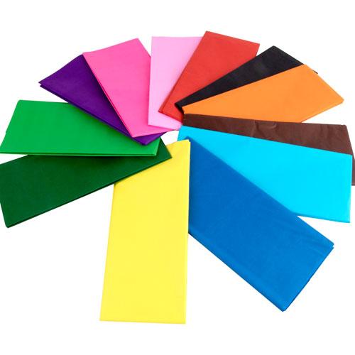 Pack Papel Seda 76 x 50 cm 10 colores detalle 1