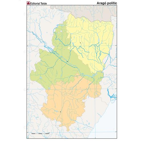Mapa Mudo Aragón Político