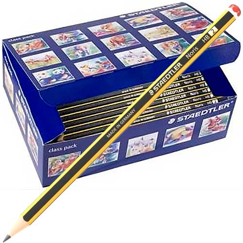 Lápices grafito Staedtler NORIS nº2 HB pack 144 ud