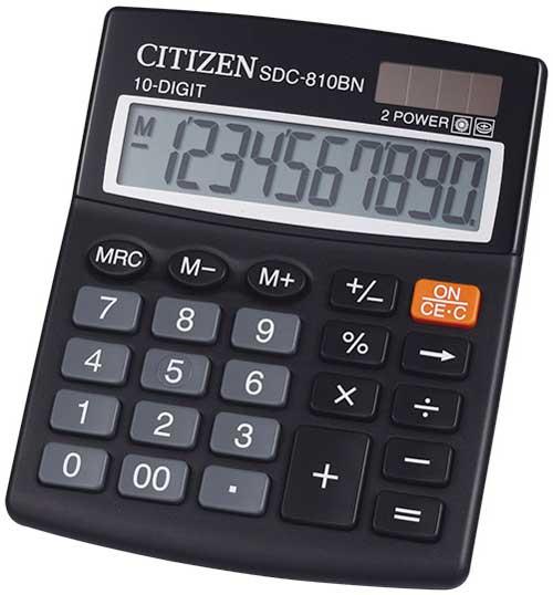 Calculadora de sobremesa SDC-810 10 dígitos