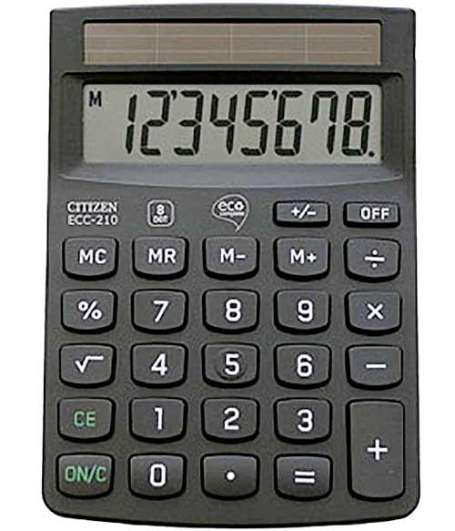 Calculadora sobremesa Eco ECC210 8 dígitos