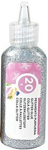 Pegamento purpurina plata 20 gr