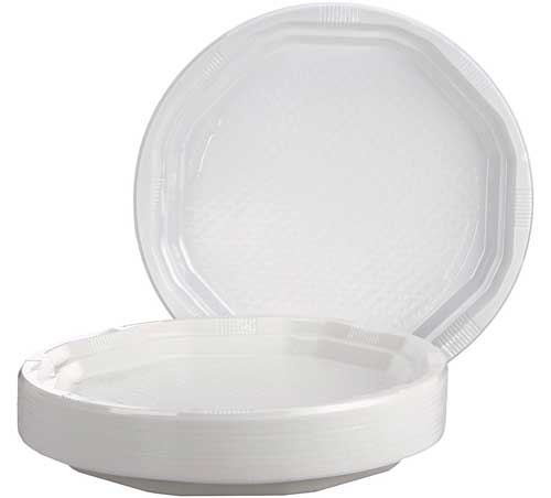 Plato plástico 17 cm diámetro 50 ud