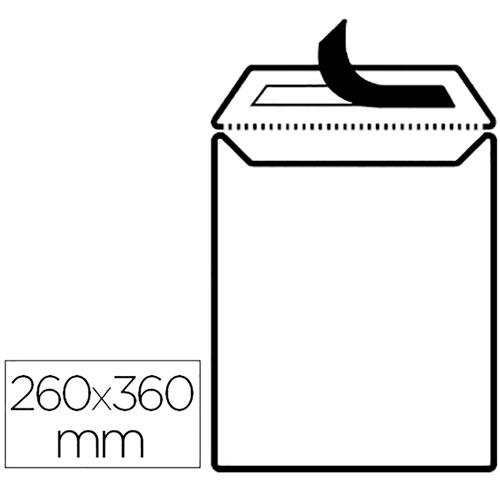 Sobre bolsa 260 x 360 mm cierre silicona caja 250 ud