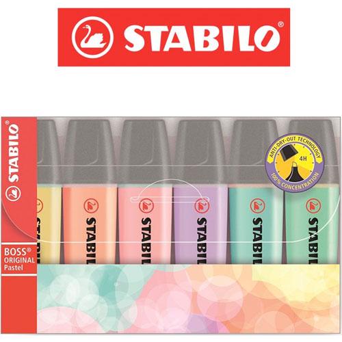 Evidenciadores Stabilo pastel 4 ud detalle 1
