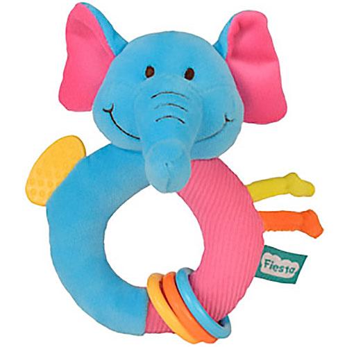 Sonajero Elefante con anillas 15 cm