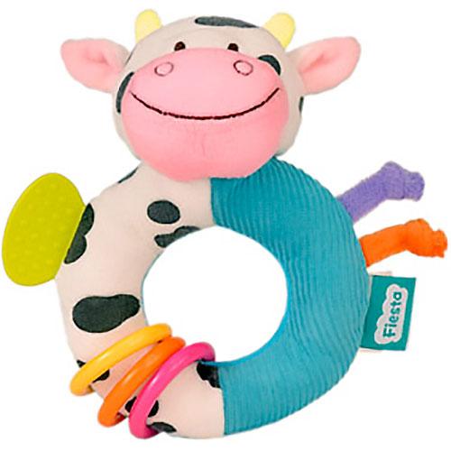 Sonajero Vaca con anillas 15 cm