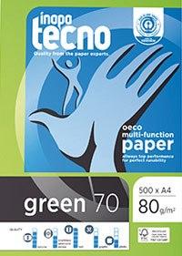 Papel Tecno Green 100% reciclado A4 80G 500 HOJAS