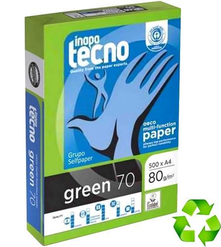 Papel A4 reciclado 500 h Tecno Green 80 gr