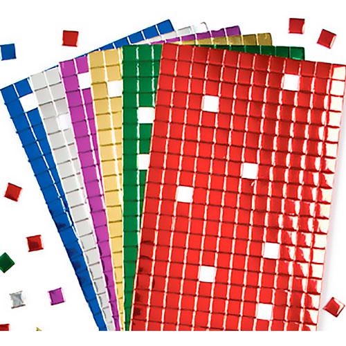 Mosaicos metalizados 6 colores 1 x 1 cm 1440 ud