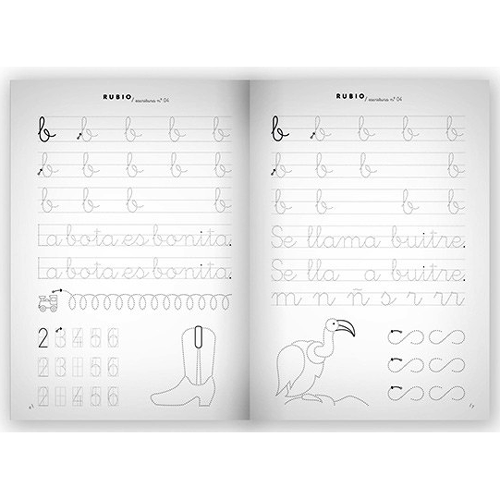 Cuaderno Escritura Rubio 04 detalle 2