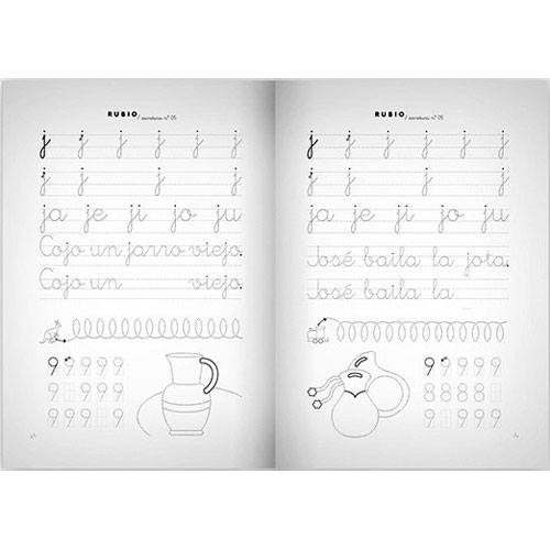 Cuaderno Escritura Rubio 05 detalle 1