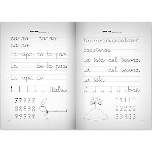 Cuaderno Escritura Rubio 06 detalle 1