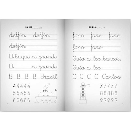 Cuaderno Escritura Rubio 06 detalle 2