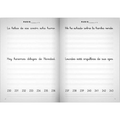 Cuaderno Escritura Rubio 10 detalle 1