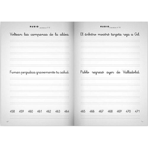 Cuaderno Escritura Rubio 10 detalle 2
