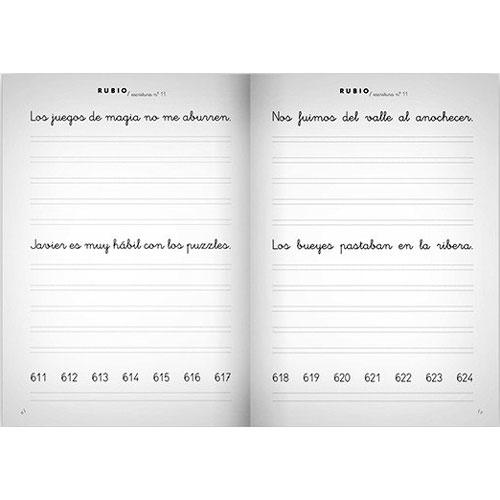 Cuaderno Escritura Rubio 11 detalle 1