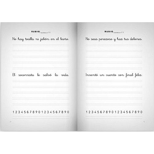 Cuaderno Escritura Rubio 11 detalle 2