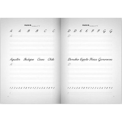 Cuaderno Escritura Rubio 13 detalle 2