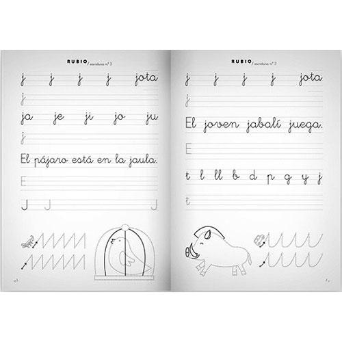 Cuaderno Escritura Rubio 3 detalle 2