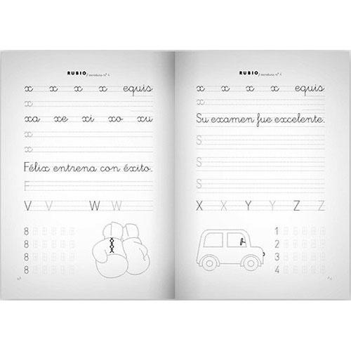Cuaderno Escritura Rubio 4 detalle 1