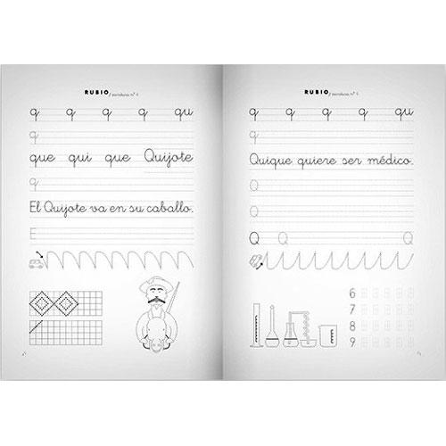 Cuaderno Escritura Rubio 4 detalle 2