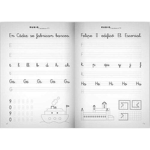 Cuaderno Escritura Rubio 5 detalle 1
