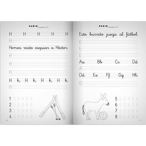 Cuaderno Escritura Rubio 5 detalle 2