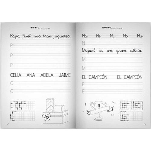 Cuaderno Escritura Rubio 6 detalle 1