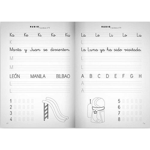 Cuaderno Escritura Rubio 6 detalle 2