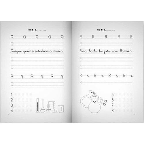Cuaderno Escritura Rubio 7 detalle 2