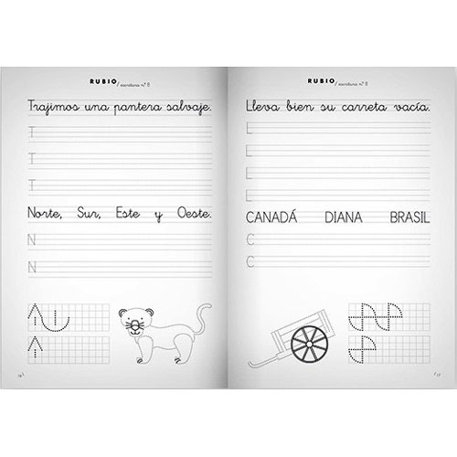 Cuaderno Escritura Rubio 8 detalle 1