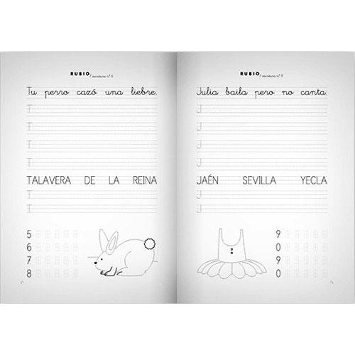 Cuaderno Escritura Rubio 8 detalle 2