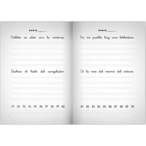 Cuaderno Escritura Rubio 9 detalle 1