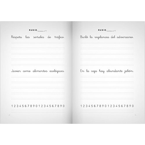 Cuaderno Escritura Rubio 9 detalle 2