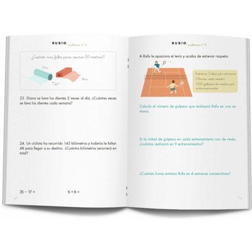 Cuaderno Problemas Rubio 12 detalle 1