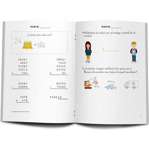 Cuaderno Problemas Rubio 5 detalle 2